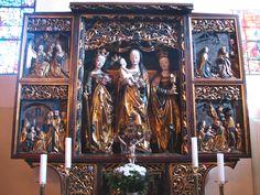 Altar, Hospitalkirche, ursprünglich in der Stadtpfarrkirche St. Martin, Hof an der Saale, um 1510