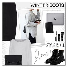"""""""Winter Boots"""" by anna-anica ❤ liked on Polyvore featuring Seed Design, Jitrois, Jil Sander, Majestic Filatures, Bobbi Brown Cosmetics, Givenchy and winterboots"""