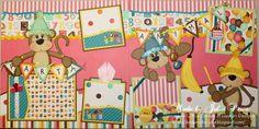 Janod puzzle pre deti Deň v Zoologickej záhrade 20 dielov 02774 Birthday Scrapbook Layouts, Kids Scrapbook, Scrapbook Paper Crafts, Scrapbooking Layouts, Scrapbook Cards, Paper Crafting, Paper Dolls Printable, Paper Piecing, Diy And Crafts