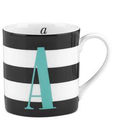 A monogram mug by Kate Spade