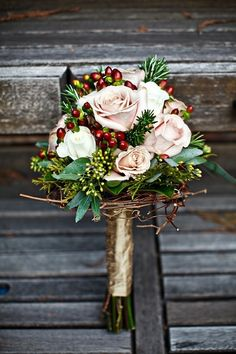 Winter wedding brides bouquet LOVE!!!! #wedding #bacheloretteandbride