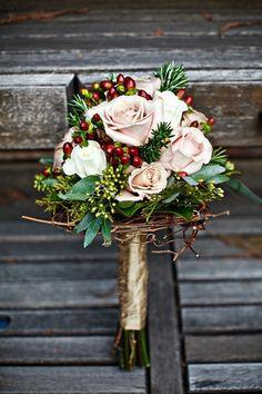 Winter wedding brides bouquet LOVE!!!!
