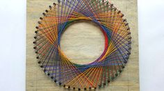 How To Create A Colorful Spirograph String Art - DIY  Tutorial - Guidece...