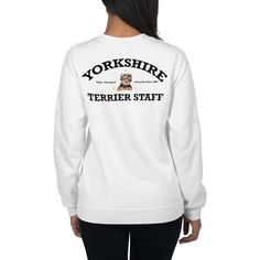 A new sweatshirt for women Yorkshire Terrier lovers from our new clothing collection, Staff. Dog Wear, Yorkshire Terrier, Dog Mom, Yorkie, Dog Lovers, Graphic Sweatshirt, Unisex, Sweatshirts, Dogs