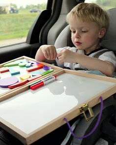 Clearly magnetic boards and washable markers are key! I'm picturing my boys really enjoying these.  I think I'll start stocking up at the dollar store everytime I go.