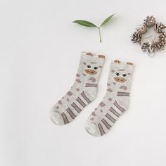 New Arrive Autumn Winter Cute Cartoon Animal Patterns Cotton Socks For Women Fashion Creative Brand Socks