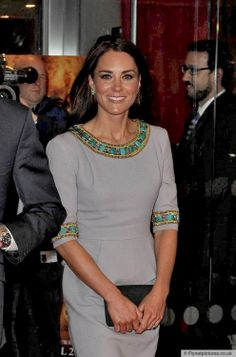 Close up of Kate's sheath dress