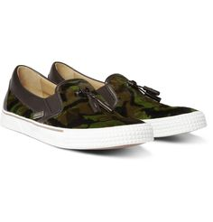 Jimmy ChooMaddox Camouflage-Print Ponyskin Slip-On Sneakers @ $595