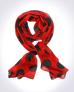 Domino Dollhouse - Plus Size Clothing: Dotty Doll Scarf in Red/Black