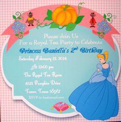 Cinderella/ Princess/ Tea Party Printable by SweetCarolinesStudio, $12.00 Princess Tea Party, Royal Princess, Princess Peach, Cinderella Princess, Tea Party Birthday, 2nd Birthday, Royal Tea Parties, Party Printables, Rsvp