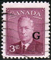 Canada 1950 SG O181 Official Overprint G Fine Used Scott O18 Other Fine Stamps of Canada HERE