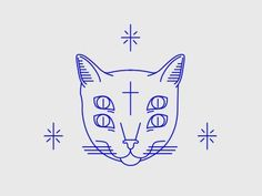 Cat eyes is part of drawings - View on Dribbble Tattoo Gato, Cat Tattoo, Cat Eye Tattoos, Eye Illustration, Cat Illustrations, Illustration Styles, Handpoked Tattoo, Flash Art, Art Inspo