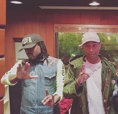 Wale in the studio with Pharrell - Eye Blog About.....Nothin'