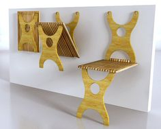 Bamboo Chairs, Retractable Tables by Union Elemental : TreeHugger Bamboo Furniture, Cheap Furniture, Luxury Furniture, Furniture Ideas, Furniture Removal, Furniture Design, Fuzzy Chair, Bamboo Table, Bamboo Chairs