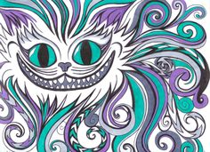 Awesome Cheshire Cat piece. The colors! The pattern!