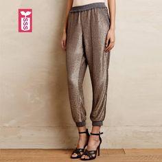 *Online Exclusive* Sequin Jogger Pants $55.50