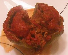 One of my favorite phase 2 meals - stuffed pepper.