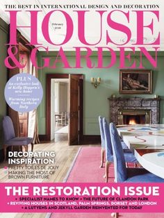 House And Garden UK February 2016 Issue- The Restoration Issue | Decorating Inspiration.  #HouseandGardenUK #HomeDecor #Restoration #DecorInspiration #ebuildin