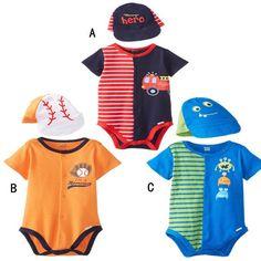 Baseball CAP+romper cotton baby rompers/cartoon baby printing clothes/roupas de bebe infantil/baby clothing set