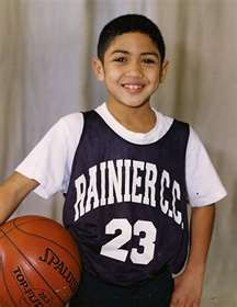 Little Peyton Siva; cutest thing I've seen all day.