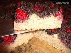 Malinovo-makový kysnutý koláč z pohánkovej múky (fotorecept)