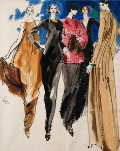 Kenneth Paul Block 1970's, ink and watercolor on paper.