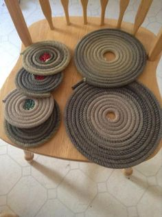 Western Rope Coasters and Pot Holders by USpur on Etsy, $20.00