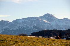 Den Säntis im Blick, aufgenommen von der Hueb Herisau. (Bild: Armin Heeb)