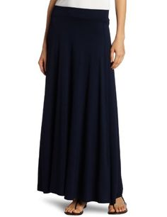 Three Dots Women's Long Maxi Skirt ***Beautiful.  Drapey.  No slit.  Ankle length.  Machine washable.  All a skirt should be.  <3