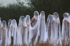 Instalação artística do fotógrafo norte-americano Spencer Tunick