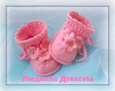Odnoklassniki Crochet Baby Clothes, Crochet Baby Shoes, Neonate, Baba, Baby Booties, Slippers, Socks, Children, Pattern