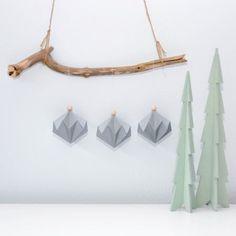 Origami Christmas, Silver, Diamond, Silver Hair, Money