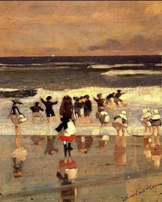 Winslow Homer「Beach Scene」