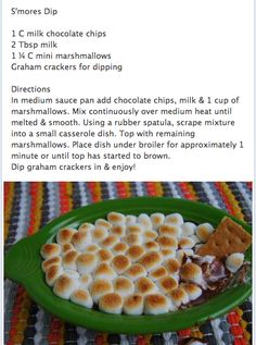 Quick Smores DIP.  Mind blown.