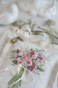 Купить Любимые цветы. Саше. - саше, подвеска, вышивка, ароматный подарок, sweet home, цветы