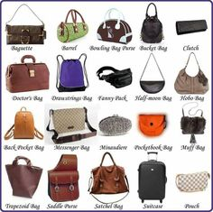 """""""Clothes and Fashion Accessories"""" Vocabulary in English: Items Illustrated - ESLBuzz Learning English : """"Clothes and Fashion Accessories"""" Vocabulary in English: Items Illustrated 21 Types Of Purses, Types Of Handbags, Types Of Bag, Purse Types, Fashion Terminology, Fashion Terms, Types Of Fashion Styles, Fashion Handbags, Fashion Bags"""