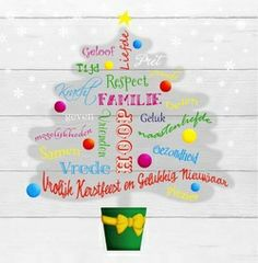 Hippe kerstboom vol woorden met betrekking tot Kerst en Nieuwjaar, in het engels! Trendy Christmas tree with words and wishes with regards to Christmas and Newyear. Holiday Cards, Christmas Cards, Merry Christmas, New Year Holidays, Christmas And New Year, Wish Quotes, Chakra, Words, Geluk