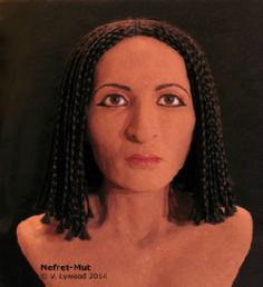 A facial reconstruction of Nefret-Mut near the time of her near (est. late early by forensic artist, Victoria Lywood. Ancient Artifacts, Ancient Egypt, Ancient History, Egyptian Mummies, Egyptian Art, Egypt Makeup, Forensic Facial Reconstruction, Forensic Artist, Old Faces