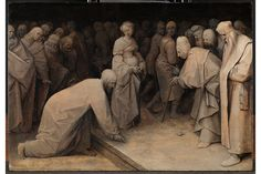 Pieter Bruegel the Elder, Christ and the woman taken in adultery, 1565, Oil on panel,