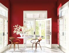 Experience Caliente AF-290, Benjamin Moore's Color of the Year 2018, and the Color Trends 2018 palette. Via @benjamin_moore
