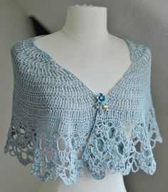 shawl crocheted with bamboo cooton blend sport weight yarn