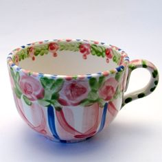 "TASSEN & HÄFERL ""Rosa-BluVerde"" Tea Cups, Mugs, Tableware, Dinnerware, Tumblers, Tablewares, Mug, Dishes, Place Settings"