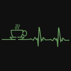 Morning Coffee Heartbeat EKG | Women's Fitted V-Neck T-Shirt