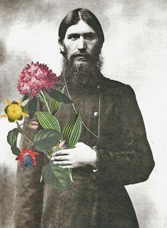 Rasputin Brings Me Flowers collage by Lynn Skordal