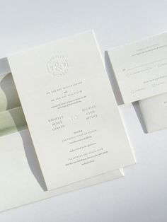 wedding invitation / design by alex yeske,  printing by presshaus la.