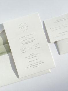 wedding invitation / design by alex yeske, printing by presshaus la.