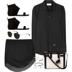 Sem título #836 by oh-its-anna on Polyvore featuring Yves Saint Laurent, STELLA McCARTNEY, belle by Sigerson Morrison, David Yurman, Monica Vinader, Humble Chic and Ray-Ban