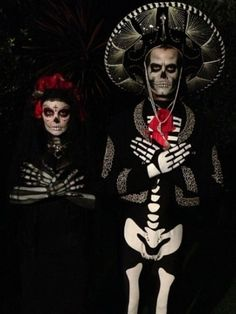Fergie & Josh Duhamel pay homage to the Mexican tradition The Day of the Dead and Fergie's heritage in creepy skeleton costumes on Oct. 25 http://www.ivillage.com/celebrity-halloween-costumes-2013/1-a-551010