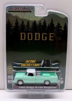 1:64  GREENLIGHT 1965 DODGE D-100 SWEPTLINE U.S. FOREST SERVICE #GreenLight #Dodge