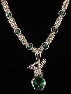 chainmaille and green amethyst necklace | find this at isisa… | Flickr